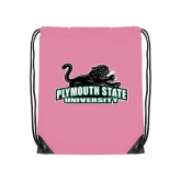 Light Pink Drawstring Backpack-Secondary Mark