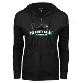ENZA Ladies Black Fleece Full Zip Hoodie-Lacrosse