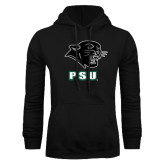 Black Fleece Hoodie-PSU Stacked w/ Panther Head