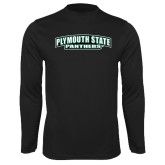 Performance Black Longsleeve Shirt-Plymouth State Panthers
