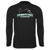 Performance Black Longsleeve Shirt-Lacrosse