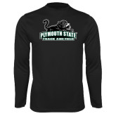Syntrel Performance Black Longsleeve Shirt-Track and Field