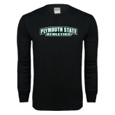 Black Long Sleeve T Shirt-Plymouth State Panthers