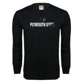 Black Long Sleeve T Shirt-Plymouth State Two Color