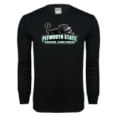Black Long Sleeve T Shirt-Track and Field