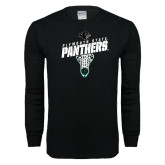 Black Long Sleeve T Shirt-Lacrosse Stick Design