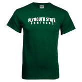 Dark Green T Shirt-Plymouth State Panthers Arched