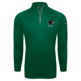 Under Armour Dark Green Tech 1/4 Zip Performance Shirt-PSU Stacked w/ Panther Head