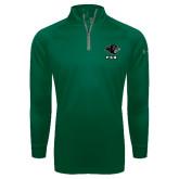 Under Armour Dark Green Tech 1/4 Zip Performance Shirt-PSU Stacked w/ Panther Head