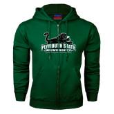 Dark Green Fleece Full Zip Hood-Secondary Mark