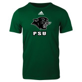Adidas Dark Green Logo T Shirt-PSU Stacked w/ Panther Head
