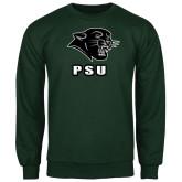Dark Green Fleece Crew-PSU Stacked w/ Panther Head