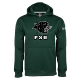 Under Armour Dark Green Performance Sweats Team Hoodie-PSU Stacked w/ Panther Head