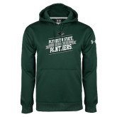 Under Armour Dark Green Performance Sweats Team Hoodie-Hockey Banner Design