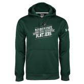 Under Armour Dark Green Performance Sweats Team Hoodie-Hockey Banner Design
