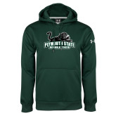 Under Armour Dark Green Performance Sweats Team Hoodie-Primary Mark