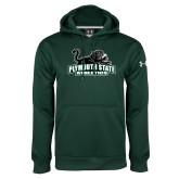 Under Armour Dark Green Performance Sweats Team Hoodie-Primary Mark