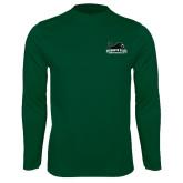 Performance Dark Green Longsleeve Shirt-Secondary Mark