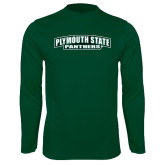 Performance Dark Green Longsleeve Shirt-Plymouth State Panthers