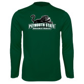 Syntrel Performance Dark Green Longsleeve Shirt-Basketball
