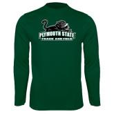Syntrel Performance Dark Green Longsleeve Shirt-Track and Field
