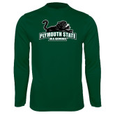 Performance Dark Green Longsleeve Shirt-Alumni