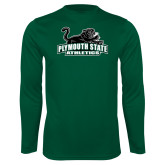 Performance Dark Green Longsleeve Shirt-Primary Mark