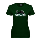 Ladies Dark Green T Shirt-Secondary Mark