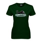Ladies Dark Green T Shirt-Secondary Mark