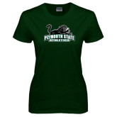 Ladies Dark Green T Shirt-Primary Mark
