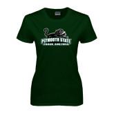 Ladies Dark Green T Shirt-Track and Field
