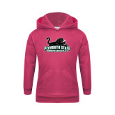 Youth Raspberry Fleece Hoodie-Secondary Mark