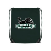 Dark Green Drawstring Backpack-Secondary Mark