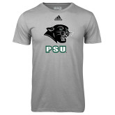 Adidas Climalite Sport Grey Ultimate Performance Tee-PSU Stacked w/ Panther Head