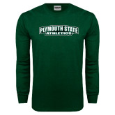 Dark Green Long Sleeve T Shirt-Plymouth State Panthers