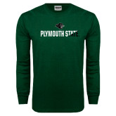 Dark Green Long Sleeve T Shirt-Plymouth State Two Color