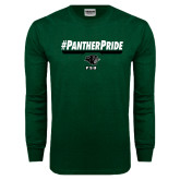 Dark Green Long Sleeve T Shirt-Panther Pride