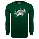 Dark Green Long Sleeve T Shirt-Hockey Banner Design