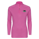 Ladies Syntrel Interlock Raspberry 1/4 Zip-Secondary Mark