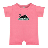 Bubble Gum Pink Infant Romper-Secondary Mark