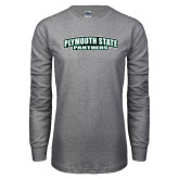 Grey Long Sleeve T Shirt-Plymouth State Panthers