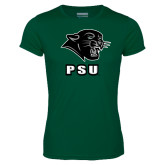 Performance Dark Green Tee-PSU Stacked w/ Panther Head