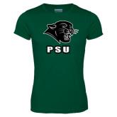 Performance Dark Green Tee-PSU Stacked w/ Panther Head