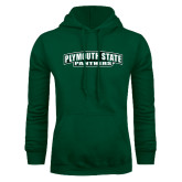 Dark Green Fleece Hood-Plymouth State Panthers