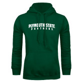 Dark Green Fleece Hood-Plymouth State Panthers Arched
