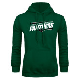 Dark Green Fleece Hood-Panthers Fancy Lines