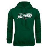 Dark Green Fleece Hood-Panthers Fancy Lines