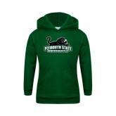 Youth Dark Green Fleece Hoodie-Secondary Mark