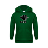 Youth Dark Green Fleece Hoodie-PSU Stacked w/ Panther Head