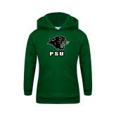 Youth Dark Green Fleece Hoodie-PSU Stacked w/ Panther Head